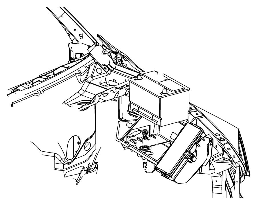 68095940ad Mopar Tray Left Battery Suuport Mopar