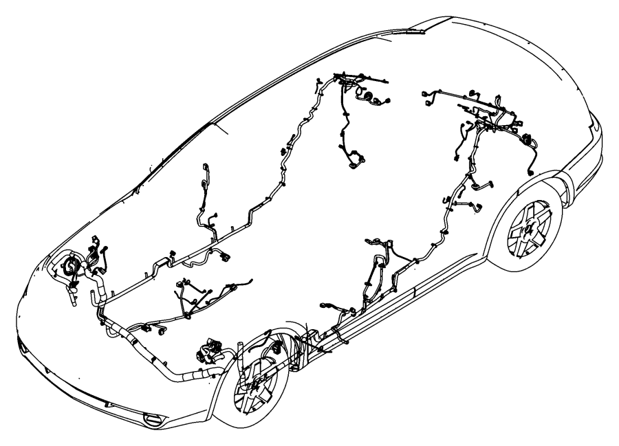 Chrysler 200 Wiring  Unified Body   Sirius Satellite Radio