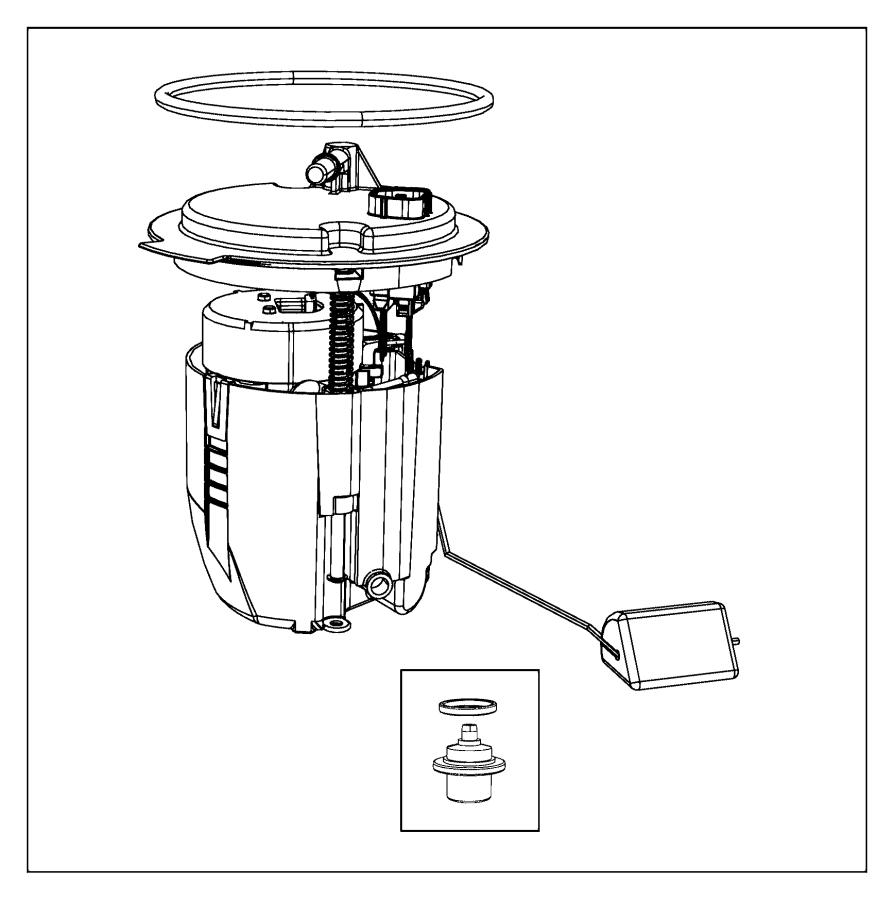Chrysler Sebring Module Kit  Module Package  Fuel Pump