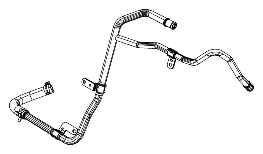 2013 jeep grand cherokee hose and tube  heater return