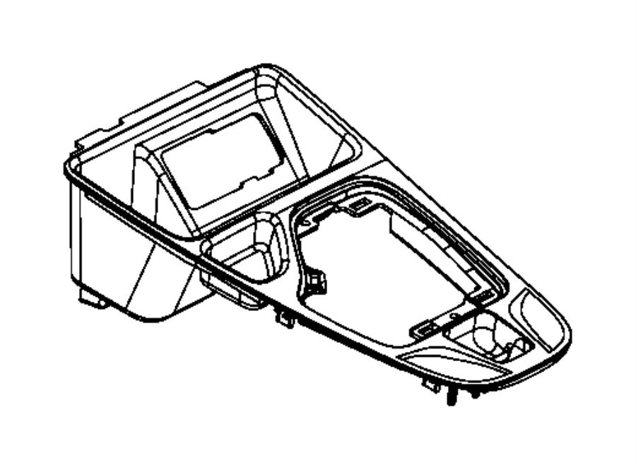 2016 jeep cherokee bezel  gear shift indicator  trim   no