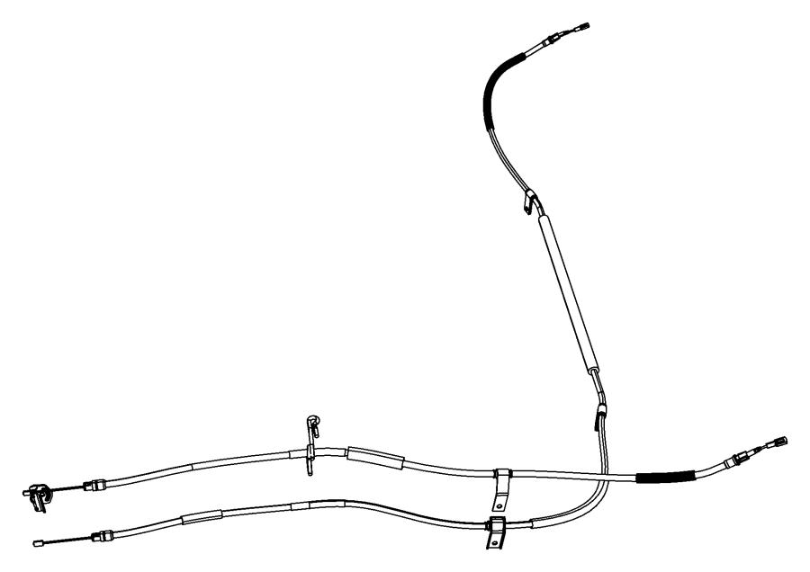 Dodge Grand Caravan Equalizer  Parking Brake Cable  Cablesrear