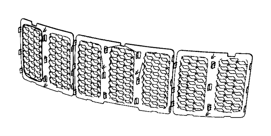 Jeep Grand Cherokee Grille  Texture  Honeycomb   Front