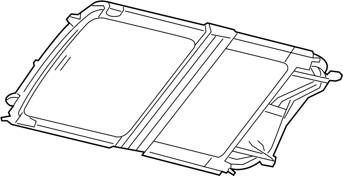sunroof glass and component parts